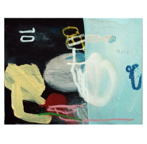 acrylic, pens, pastel, spray and tea on canvas _ 21 x 27 cm