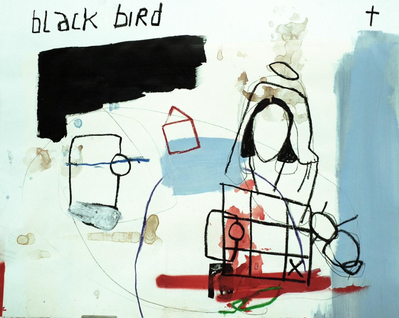 acrylic, pen, pastel on paper _ 75 x 50 cm