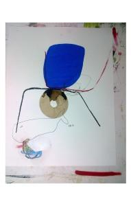 brou de noix, crayon, feutre, pastel gras sur papier _ 65 x 50 cm